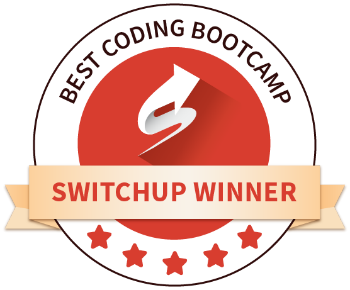 The Tech Academy Best Online Coding Bootcamp Award from SwitchUp Logo