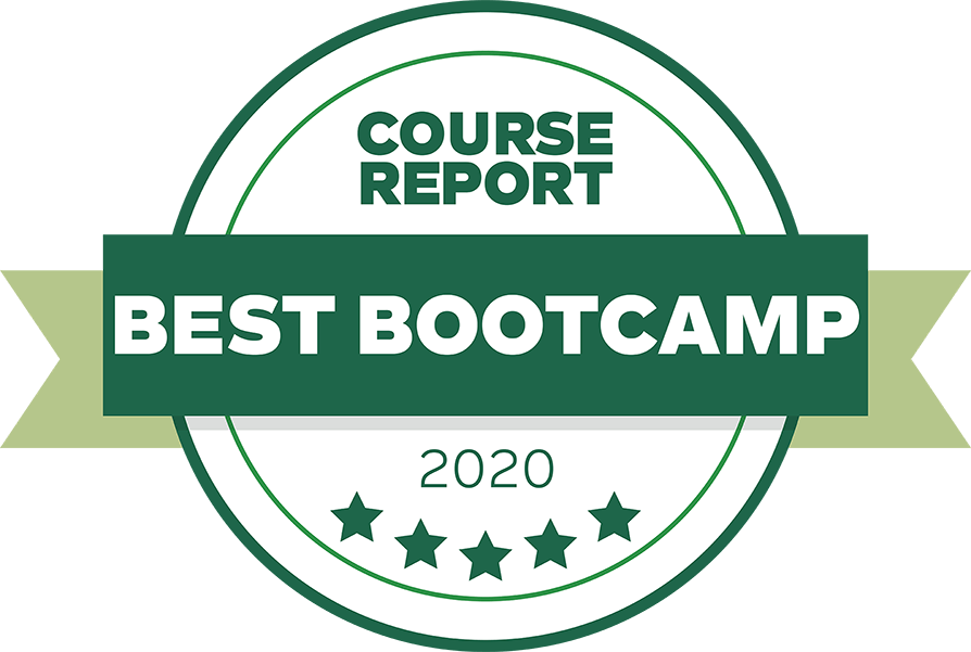 The Tech Academy Best Online Coding Bootcamp Award from Course Report Logo